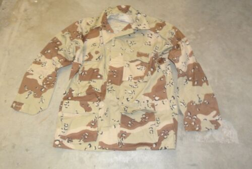 US Army Combat Coat 5 color Choc Chip Desert Camo Large Long NOS Free Shipping