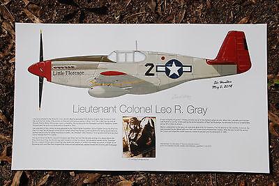 Tuskegee Airmen, Leo Gray, Aviation Art Prints, Ernie Boyette
