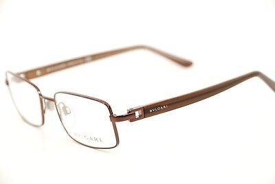 New Authentic Bvlgari 187 137 Brown 52mm Rectangular Frames Eyeglasses Italy RX
