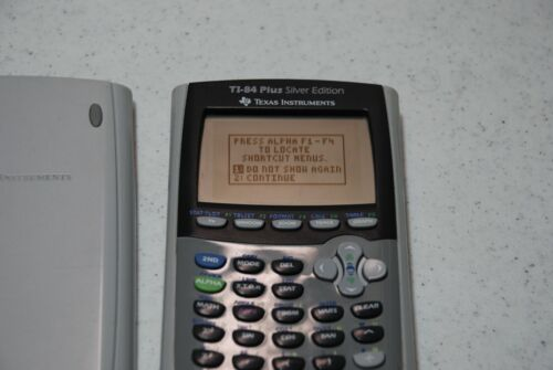 Texas Instruments TI-84 Plus Silver Edition Graphing Calculator - Silver Tested