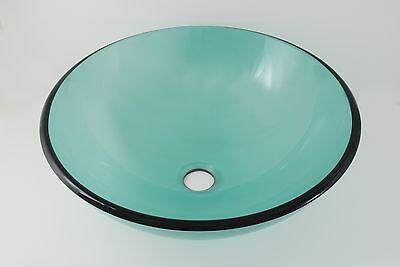 Above Counter Bathroom Glass Vessel Sink Basin, Translucent