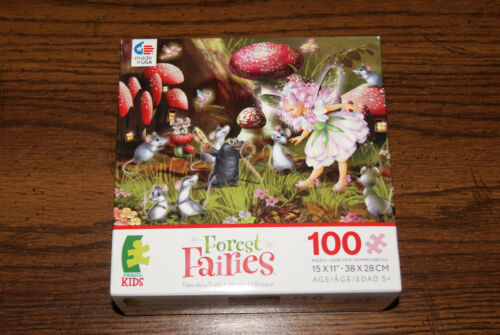 NEW Forest Fairies #1 100 piece Ceaco Kids Puzzle FREE SHIPPING Blind Cat Rescue