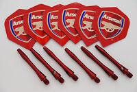 2 Set Di Arsenal Feccette, 2 Set Di Rosso Alberi In Alluminio Anodizzato -  - ebay.it