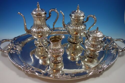 Richelieu By International Tea Set 4pc With Tray (#1631) Fabulous!