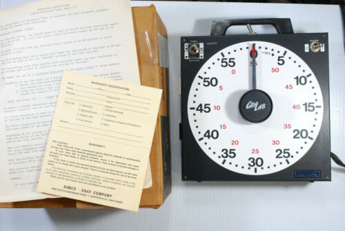 GRALAB MODEL 171 Dual Outlet  DARKROOM INDUSTRIAL TIMER Tested with Instructions