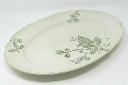 "W.H. Grindley & Co. England Serving Platter Bramble Pattern Scalloped Edge 14"""