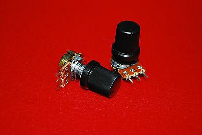 2pcs B100k Wh148 15mm Shaft Mixer Variable Resistors Potentiometer A384