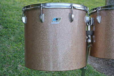 "1972 Ludwig CLASSIC 16"" CHAMPAGNE SPARKLE MELODIC TOM for YOUR DRUM SET! #Z267"
