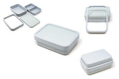 Brotdose Brotbox Bento Lunchbox Dose Bambus QUADRO Auslaufsicher BIO ECO [BLAU]