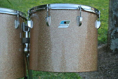 "1972 Ludwig CLASSIC 15"" CHAMPAGNE SPARKLE MELODIC TOM for YOUR DRUM SET! #Z266"