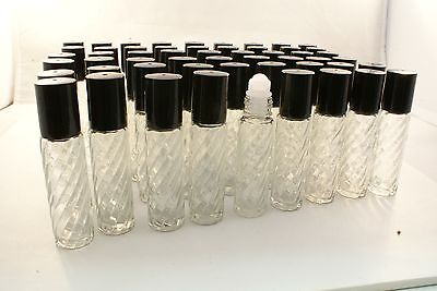 WHOLESALE SET-100 Pcs Glass roll-on 10ml AROMATHERAPY Essential Oil Bottle DEAL