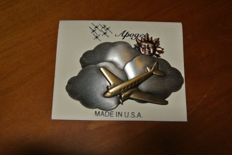 Airplane in the cloud pin by Apogee new