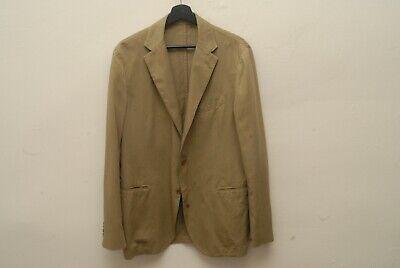 Piombo khaki 3/2 roll unlined sport coat 52 42 100% cotton Lardini