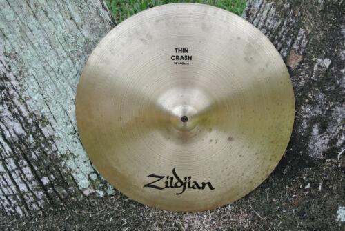 """Avedis ZILDJIAN Co. 16"""" / 40 cm THIN CRASH CYMBAL ~ 896 grams! LOT #MG476"""