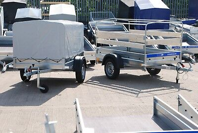 BOX TRAILER 6X4 750KG SINGLE AL-KO AXLE WITH REMOVABLE WOODEN SECURE PANELS