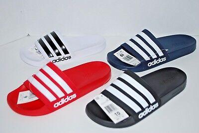 NWT ADIDAS ADILETTE CF SLIDES BLACK RED WHITE GREY NAVY 4-13 mens shower sandals