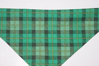 Dog Bandana, OVER THE COLLAR,clothes, pet, Size S,M,L,XL, St.Patricks Day Plaid!](Dog St Patrick's Day Clothes)