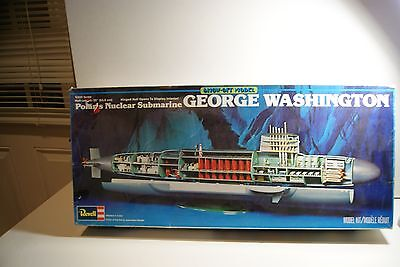 1:200 USS George Washington class submarine vintage model with open interior