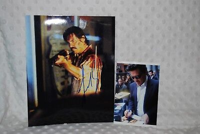 Josh Brolin Signed / Autographed 8x10 Photo w/ Photo of him Signing (PROOF)