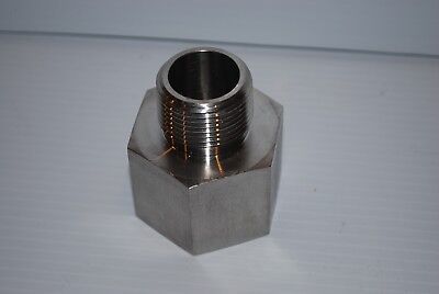 Stainless Reducing Adapter 1.5 Fnpt X 1 Mnpt 316 Stainless