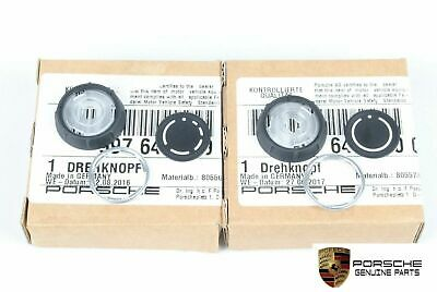Genuine Porsche Factory Replacement Radio Knob Set 997.2/987.2/957 PCM3 Carrera