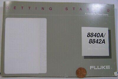 Fluke 8840 8842a Digital Multimeter Getting Started Guide  Small