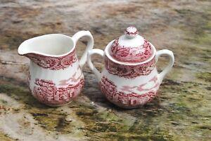 Barratts Tableware Old Castle Stately Home Creamer Milk jug Sugar Bowl
