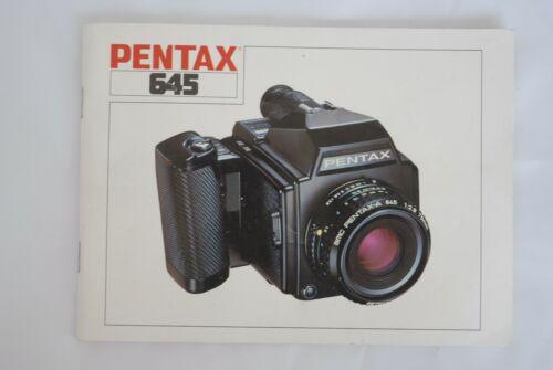 Original Pantax 645 Instruction Book Manual