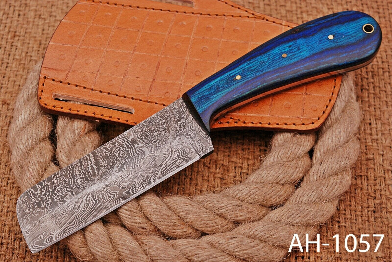 hand forged steel bull cutter cowboy knife