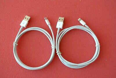 2x Genuine Apple iPhone iPad iPod touch iPod Nano Lightning To USB Cable  (Apple Iphone Ipod Nano)