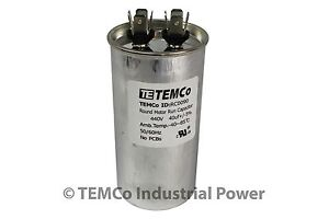 Run-Capacitor-40-MFD-440v-Round-AC-Electric-Motor-HVAC-440-vac-v-volts-40-uf