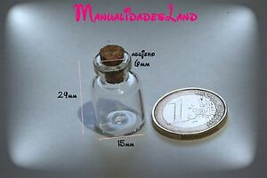 5-10-MINI-BOTES-CRISTAL-24MM-x-15MM-FRASQUITOS-BOTTLE-MINI-MANUALIDADES