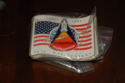 SPACE SHUTTLE COLUMBIA 10TH ANNIVERSARY STICKER 1981 1991 NASA SPACE PROGRAM