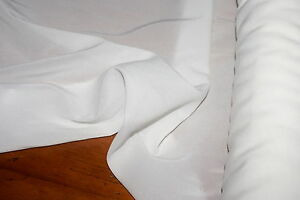 2m x 1.3m WHITE WIDOW 100% Silk Georgette Fabric w Give