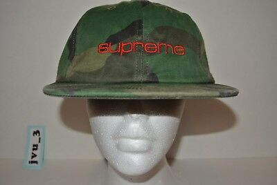 NEW SUPREME FW17 COMPACT LOGO 6-PANEL WOODLAND CAMO box logo hat comme nas