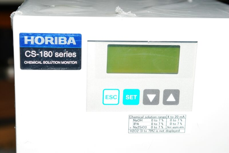 Horiba Cs-180 Series Chemical Solution Monitor Cs-189y-070707b