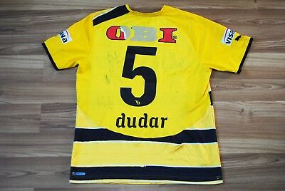 YOUNG BOYS 2010-2011 HOME FOOTBALL SHIRT JERSEY #5 Emiliano Dudar Autographs L image
