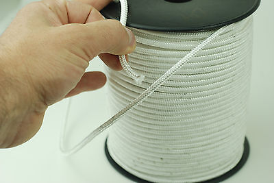 White Polystyrene Braided Rope Nylon Para Cord Heavy Duty Extra Strong Polyester
