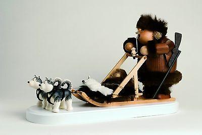 KWO Räuchermann Eskimo mit Hundeschlitten, A21653