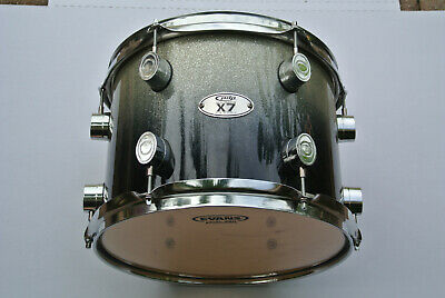 "PDP by DW 12"" TOM X7 ALL MAPLE SILVER 2 BLACK SPARKLE FADE fr YOUR DRUM SET! Z52"