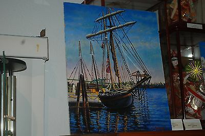 20 X 16 Tom Phillips Boat Oil Painting