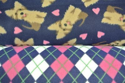 Dog Blanket Yorkies Yorkshire Terriers Hearts Can Be Personalized 28x22