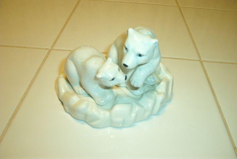 MaMa Polar Bear & Baby on Ice Salt & Pepper Shakers