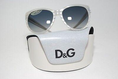 D&G DESIGNER POLYCARBONATE SUNGLASSES WHITE GREY LENSES DD3061 1796/8G ITALY