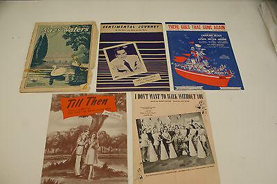 Lot of 5 Vintage Sheet Music 1940's L#471