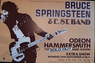 Bruce Springsteen Hammersmith Odeon 1975 concert poster large A1 Size  repro