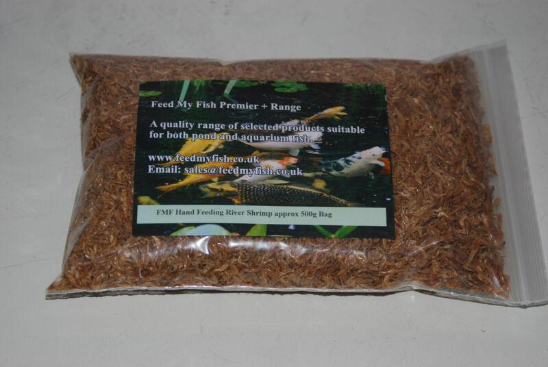 Dried river shrimp suitable for koi pond fish birds for Fish suitable for ponds