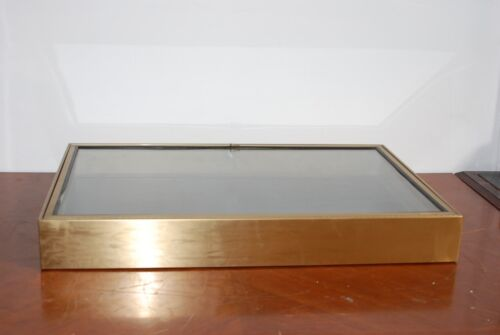 """TABLETOP BOOTH DISPLAY CASES NON-MAG. STAINLESS STEEL 23""""X35""""X4.25"""" LOCK"""
