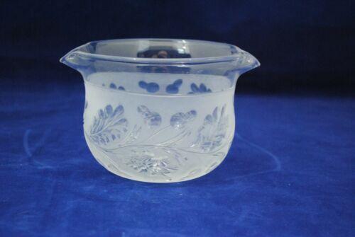 Antique Engraved Glass Wine Rinse Rinser Oak Leaf & Acorn Decoration