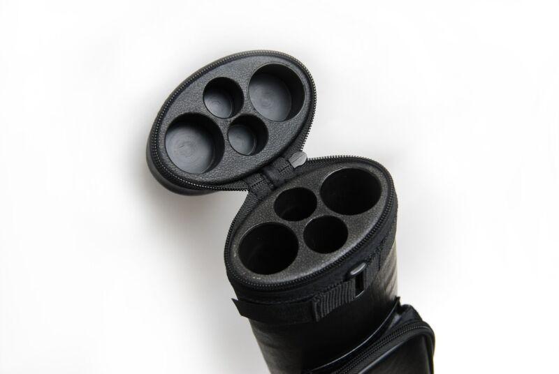 2x2 Hard Oval Billiard Case 2Butts 2Shafts Carry Pool Cue Stick Case - Cue Case